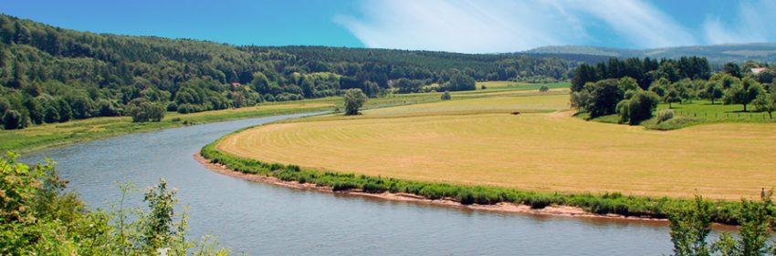 Weserbogen, Weser, Oberweserbergland, Weserbergland